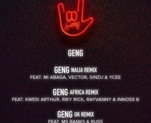 Mayorkun – Geng (Africa Remix) Ft. Riky Rick, Kwesi Arthur, Rayvanny, Innoss'B